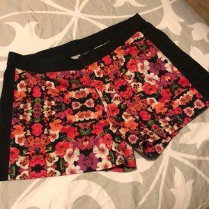 Nicole Miller floral print shorts